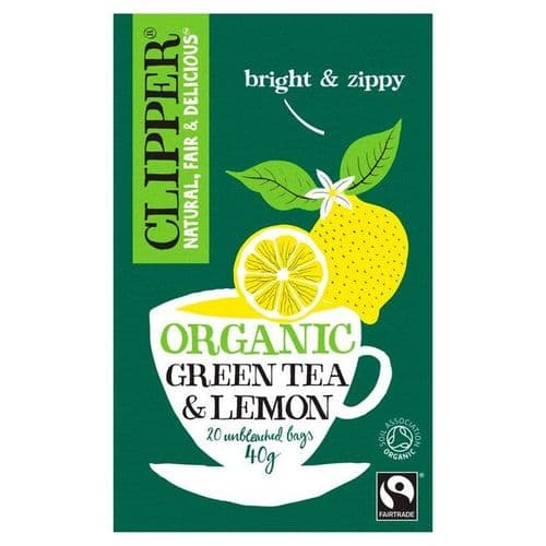 Clipper Organic Fairtrade Pure Green Tea with Lemon